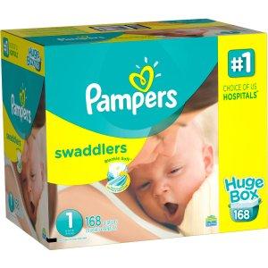 $8.97起Pampers Swaddlers  帮宝适1号纸尿布 ,多种数量可选