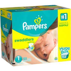 Pampers Swaddlers Diapers, Size 1 (Choose Diaper Count) - Walmart.com