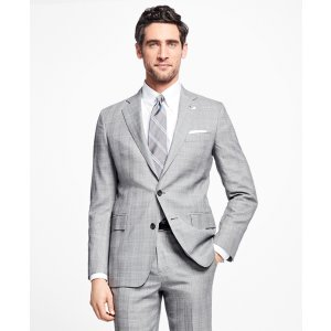 Regent Fit Saxxon Wool Plaid with Deco 1818 Suit - Brooks Brothers