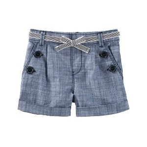 Toddler Girl Chambray Sailor Shorts | OshKosh.com
