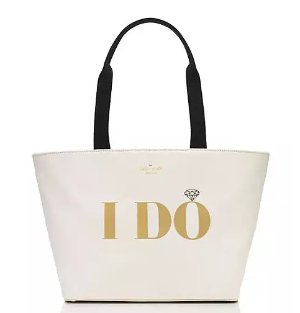 $111.00(reg.$148.00) kate spade wedding belles i do i did tote