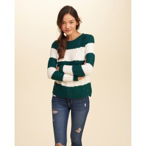 Girls Cable Crew Sweater | Girls Clearance | HollisterCo.com
