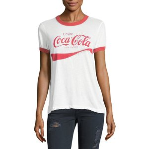 Wildfox Vintage Cotton Coca Cola Graphic Tee