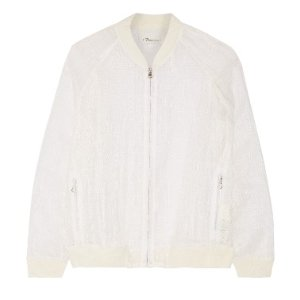 3.1 Phillip Lim Ripped stocking embroidered organza jacket