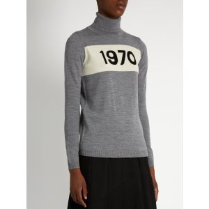 Roll-neck 1970 wool sweater | Bella Freud