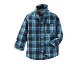 Toddler Boy Plaid Button-Front Shirt | OshKosh.com
