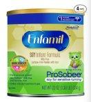 Enfamil ProSobee Baby Formula - 22 oz Powder Can (Pack of 4)