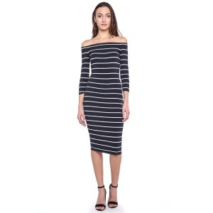 Bailey 44 Striped Off-Shoulder Dress   South Moon Under