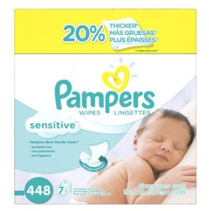 $10.4Pampers Baby Wipes Sensitive 7X Refill, 448 Count