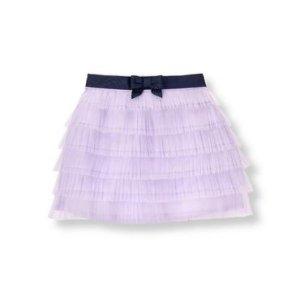 Baby Girl Lavender Pleated Tulle Skirt at JanieandJack