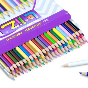 #1 Best Seller! $6.99 LolliZ® 50 Colored Pencils Set