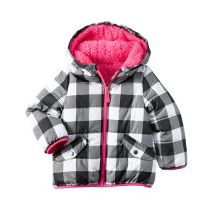 Baby Girl Gingham Puffer Jacket | Carters.com