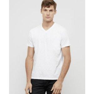 Short-Sleeve Slub V-Neck T-Shirt | Kenneth Cole