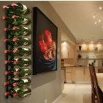 Epicureanist 18-Bottle Metal Wine Rack in Black