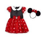 Disney Girls Red/Black Short Sleeve Minnie Mouse Halloween Costume with Polka Dot Dress and Eared Headband - Toddler - Babies R Us - Babies