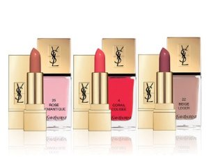 $78.00 Saint Laurent Limited Edition Kiss & Love Collection Lip/Nail Set