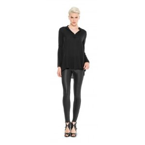 LEATHERETTE PONT LEGGINGS