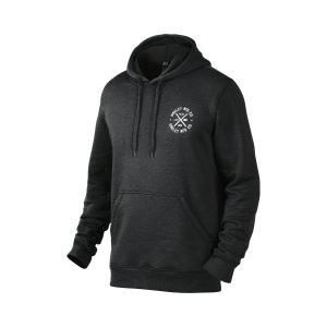 Oakley Round Up Fleece Full-Zip Hoodie in JET BLACK HEATHER | Oakley