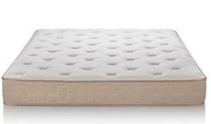 $199 Englander Finale 10-Inch Three-Zone Innerspring Mattress, Made in USA, Beige, Queen