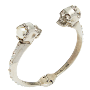 Twin Skull Hinged Bangle by Alexander McQueen at Gilt