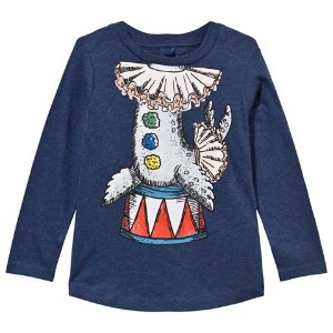 Stella McCartney Kids Navy Barley Circus Headless Seal Tee