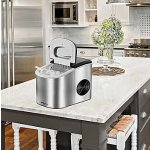 Keyton Portable Ice Maker with Basket, Stainless Steel, 26 Pounds
