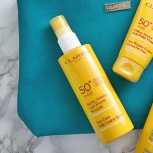 $30.6Sunscreen Care Milk-Lotion Spray SPF 50+  @ Clarins
