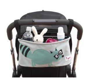 3 Sprouts Stroller Organizer, Raccoon