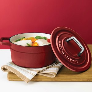 Martha Stewart Collection Collector's Enameled Cast Iron 6 Qt. Round Casserol @ macys.com