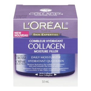 $5.69 L'Oreal Paris Collagen Moisture Filler Facial Day/Night Cream, All Skin Types