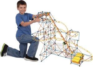 Prime Member Only! K'NEX Hyperspeed Hangtime Roller Coaster Building Set
