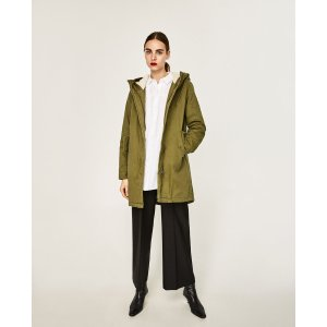 PARKA WITH PAINTED BACK - View All-OUTERWEAR-WOMAN-SALE | ZARA United States