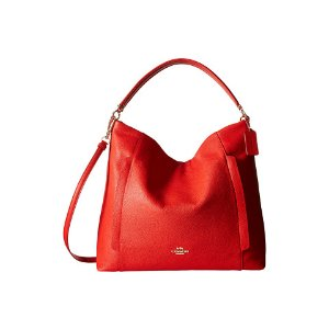 COACH Polished Pebbled Leather Large Scout Hobo Cardinal - 6pm.com