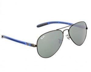 RAY BAN Ray-Ban Aviator Carbon Fiber Frame Green Mirror Lens Sunglasses