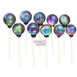 Galaxy Lollipops™ 10 Nebula Designs with Exquisite Gift Pack