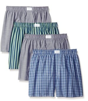 From $13.56 Tommy Hilfiger Men's 4 Pack Woven Boxer