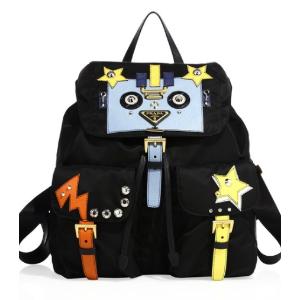 Prada Tessuto Nylon Robot Backpack