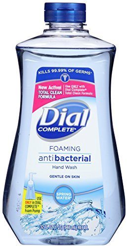 Dial Complete Antibacterial Foaming Hand Wash Refill, Spring Water, 32 Ounce