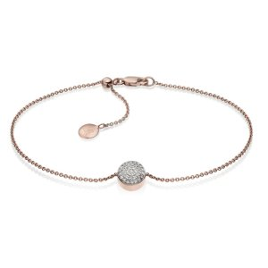 Ava Button Bracelet in 18ct Rose Gold Vermeil on Sterling Silver with Diamond | Jewellery by Monica Vinader
