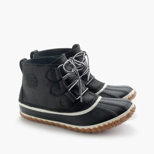 Women's Sorel Out N About Leather Boots In Black : Women's Boots   J.Crew
