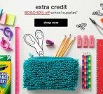 Buy One Get One  50% Off School Supplies @ Target