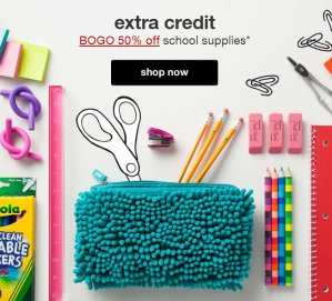 Buy One Get One  50% Off School Supplies @ Target