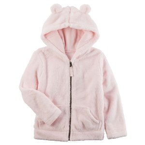 Baby Girl Snow Fleece Hoodie
