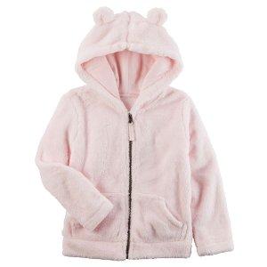 Toddler Girl Snow Fleece Hoodie | Carters.com