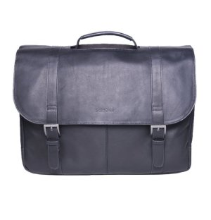 $72.55 Samsonite Colombian Leather Flap-Over Laptop Messenger Bag