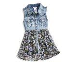 Denim and Chiffon Two-Fer Dress (7-16) | guess kids