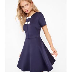 Double bow skater dress - Dark Blue   Dresses   Ted Baker