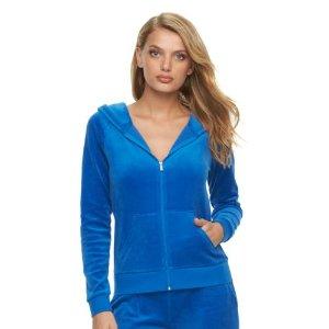 Women's Juicy Couture Velour Hoodie Jacket