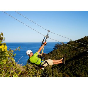 One Day Tour to Best Catalina Island Zip line Eco-Tour from Anaheim or Los Angeles etc.