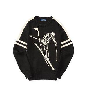 Intarsia Cotton-Linen Sweater - Sweaters � Big Kid (sizes 8-20) - RalphLauren.com